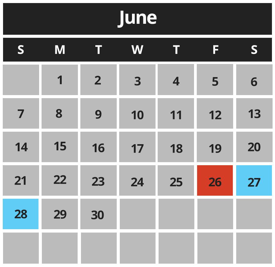 River of Adventure June Hours