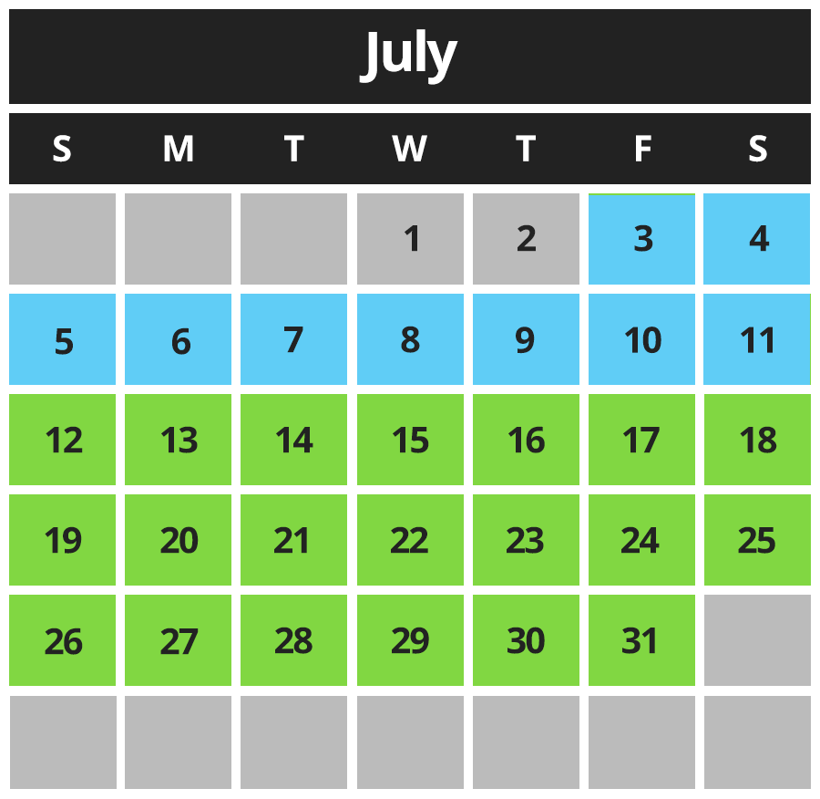 River of Adventure Hours July 2020