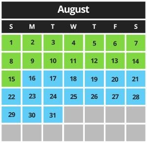 Mariner's Cove Boardwalk August 2021 Hours