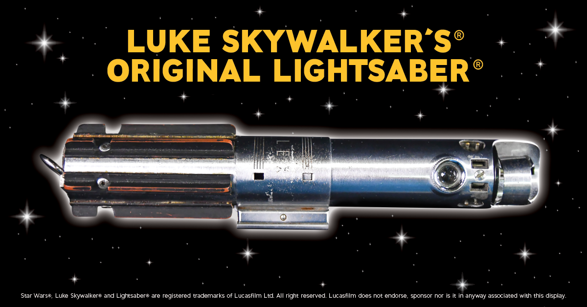 Luke Skywalker's Original Lightsaber in Cavendish