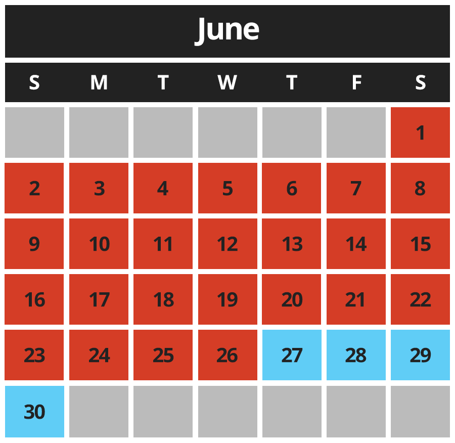 Greco June Hours