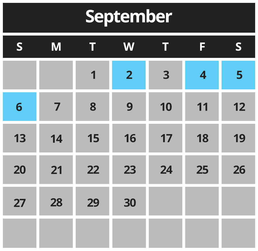 Shining Waters Sept Hours