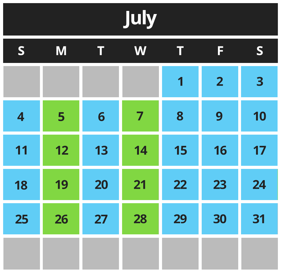 Pit Stop Karting Calendar July 2021