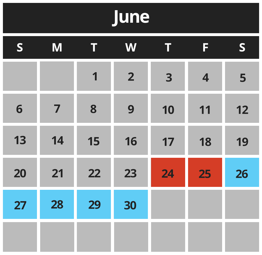 Pit Stop Karting Calendar June 2021