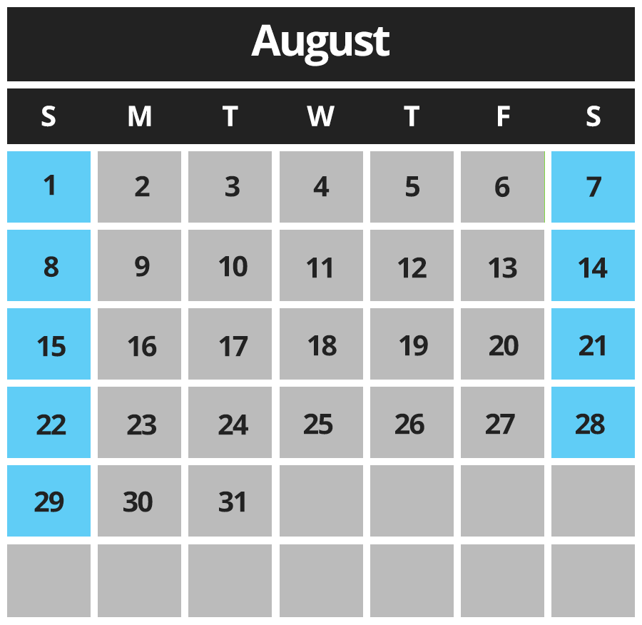 Piping Plover Calendar August 2021
