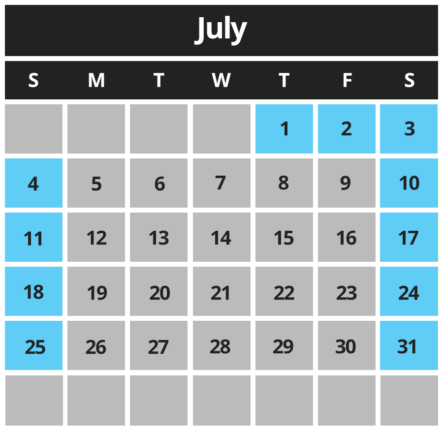 Piping Plover Calendar July 2021